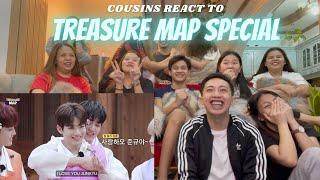 Download lagu COUSINS REACT TO [TREASURE MAP] CHUSEOK SPECIAL 🌕 추석특집 🌕 사랑해 12꽃도령