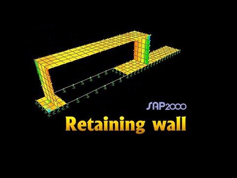 Retaining wall & Shear wall & Raft - Sap2000 - Dr. Ahmed Deifalla