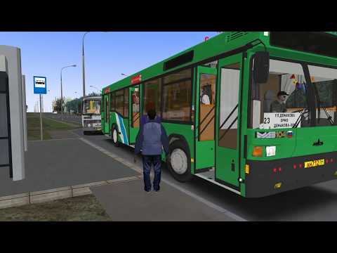 OMSI 2 по Новосибирску на автобусе Маз 104