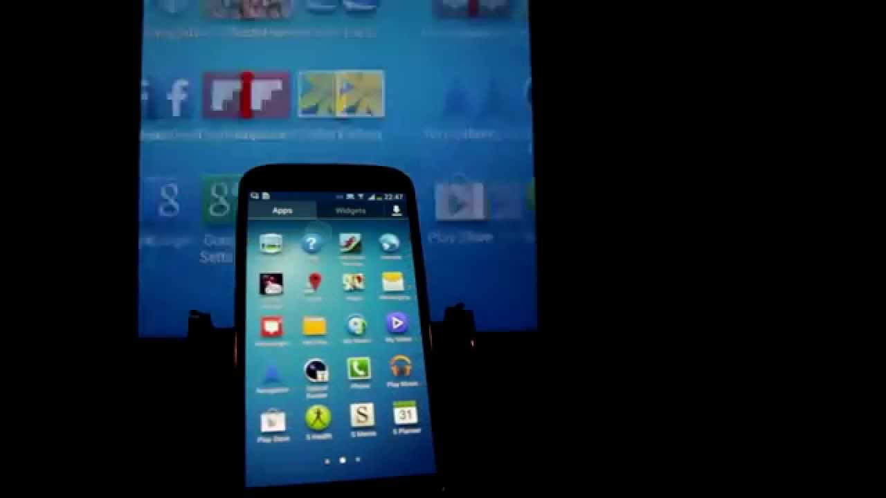 samsung galaxy s4 screen mirroring to tablet