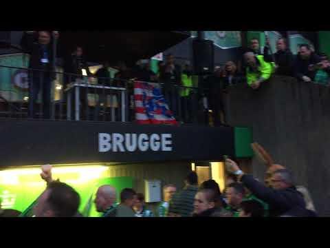 Cercle-fans begeleiden hun helden richting catacomben