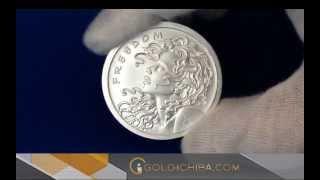 2013年 (新品) 「自由の少女」 1オンス・99.99%の純銀製・メダリオン