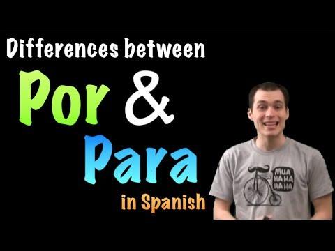 02 Spanish Lesson Por Vs Para Youtube