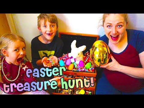 Real Easter Treasure Hunt From The Easter Bunny! We Found A Golden Egg! Egg Hunt / The Beach House