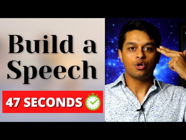How to Create a Speech Outline & Presentation in 47 SECONDS
