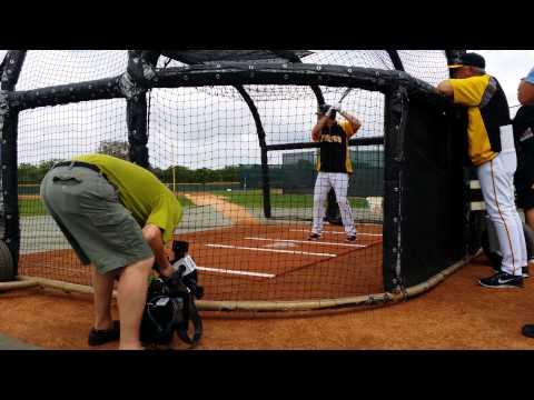 Neil Walker taking batting practice