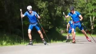 Тренировки лыжников летом