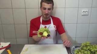 Как сделать мини ёжика из груши - Фруктовый мастер - Fruitm