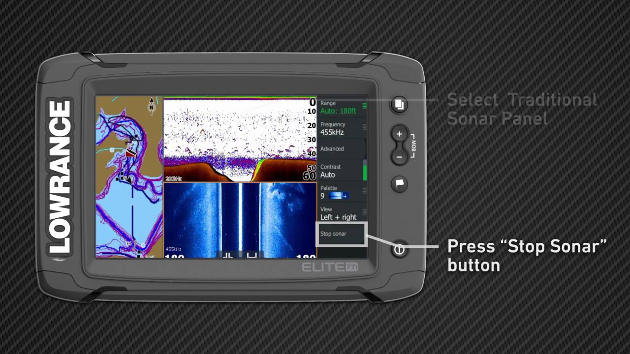 Lowrance Elite Ti Switching Sonar Modes