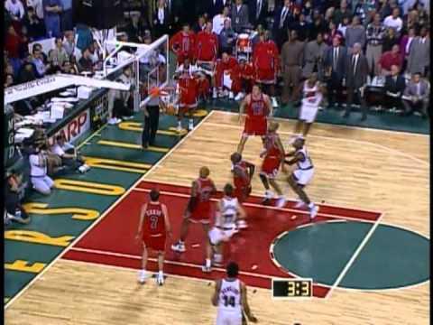 Vin Baker Game Winner NBA 1997/98 Seattle Supersonics vs Chicago Bulls
