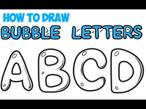How To Draw Bubble Letters For Beginners A Z Easy Kids Step By