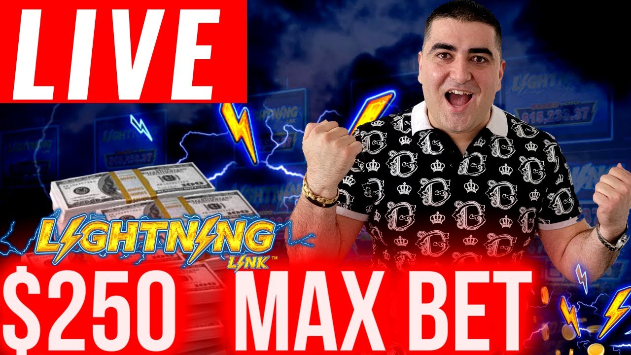 Download 🔴$250 Max Bet LIGHTNING LINK ! Live Stream Slot Play At Casino