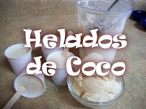 Cómo hacer helados de coco