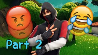 Salty Fortnite Kids React to IKONIK Skin & Scenario Emote Part 2