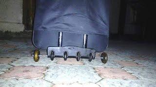 Апгрейд чемоданов, добавление колес, балансировка
