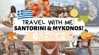 TRAVEL WITH ME: SANTORINI & MYKONOS, GREECE | Emma Rose