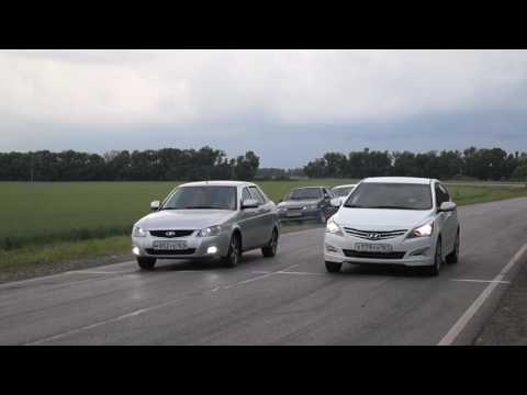 Hyundai Solaris AT VS Лада Приора