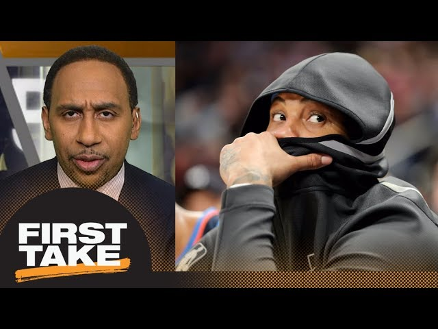 Do you believe Carmelo Anthony? Stephen A. Smith says 'hell no' | First Take | ESPN