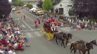 4th of July 2013 Parade on Bainbridge Island WA Aerial Video