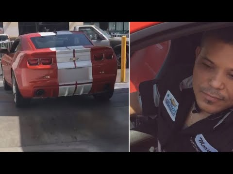 Woman Confronts Mechanic Who She Claims Drove Her Husband's Sports Car