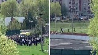 Russia school shooting: Children evacuated from buildings in Kazan