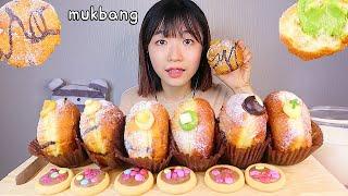 MUKBANG 제주 호랭이 도넛🐯 부드러운 크림 가득 크림 도넛과 초코 디저트 먹방 CREAM DOUGHNUT CHOCO Dessert asmr  クリームドーナツ 咀嚼音