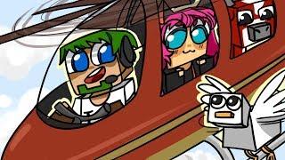 ч.10 Питомец курочка и грибная корова, Полетали на вертолёте!! - Minecraft Страшные приключения