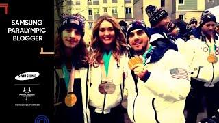 Megan Psyllos | Paralympic Winter Games Closing Ceremony with Team USA | Samsung Paralympic Blogger