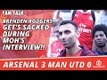 Brenden Rodgers Get's Sacked During Moh's Interview!!  | Arsenal 3 Man Utd 0