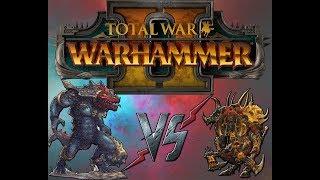 Total War Warhammer 2  битва  Ящеролюды vs хаос