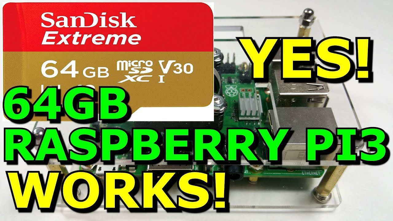 Raspberry PI3 B+ Using A 64GB Sandisk Micro SD Extreme Memory Card How To  Format And Install Noobs
