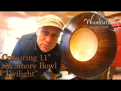 """#42 Woodturning How to Stain and Colour an 11"""" Sycamore Bowl"""
