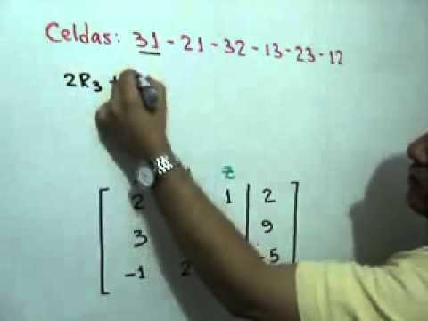 Solucion de un sistema de 3x3 por Gauss-Jordan (Parte 1 de 2)