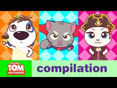 CRAZY GAMES - Talking Tom And Friends Minis Cartoon Compilation (22 Minutes)