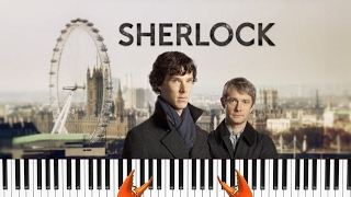 BBC Sherlock Theme Song Пианино Кавер Cover + Обучение