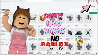 I spent a thousand ROBUX on ROBLOX and LOOK AT WHAT GAVE!!