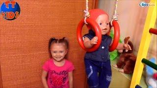 ✔ Кукла Беби Борн и Ярослава – время развлечений и игр с малышом. / Baby Born with Yaroslava ✔