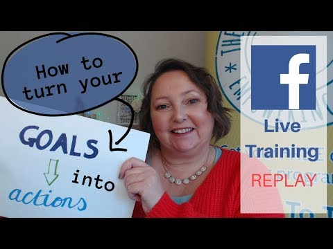 🎯 How to turn your goals into ACTIONS 2018 | Cindy Davis 💪