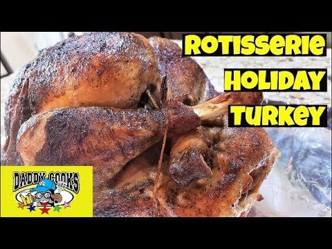 Brined Rotisserie Turkey (and Trussing)