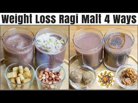 Weight Loss Breakfast With Ragi | Ragi Malt 4 Ways | Ragi Malt Breakfast Recipe For Weight Loss