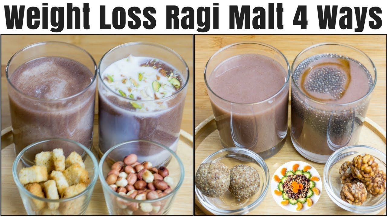 Weight Loss Breakfast with Ragi | Ragi Malt 4 Ways | Ragi Malt Breakfast  Recipe For Weight Loss