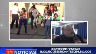 Uajms comienza bloqueo de estudiantes denunciados