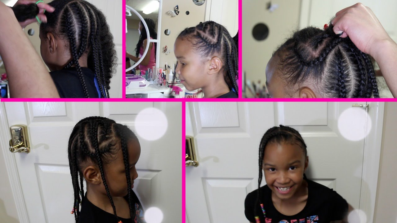 Cute And Easy Protective Style For Little Girls Braided