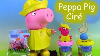 Peppa Pig Rainy Day Raincoat ♥ Manteau Ciré de Pluie Clay Buddies Pochettes Surprise