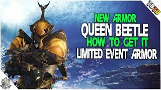 NEW EVENT ARMOR! Queen Beetle Armor Spring Festival Exclusive! Monster Hunter World Events
