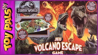 JURASSIC WORLD Volcano Escape DINOSAUR BOARD GAME for Kids