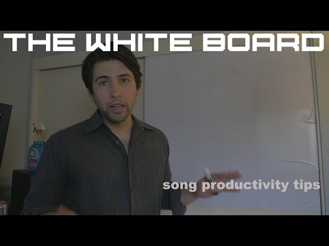 Song productivity tips - so you can write songs faster and make that money!