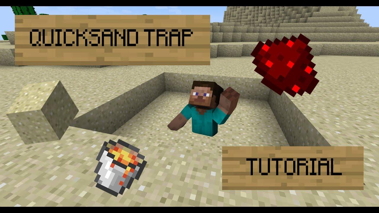 Quicksand Trap! - Minecraft Tutorial - YouTube