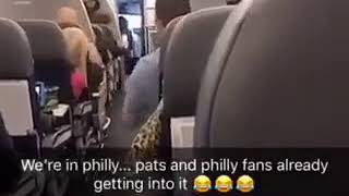 Patriots Versus Eagles Fans Fight On Board Layover Flight To Philly