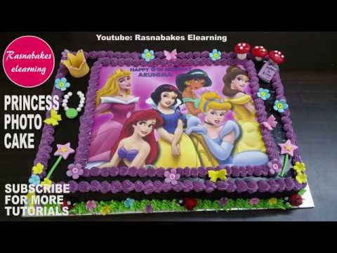 Princess Birthday Photo Cake Using Edible Printerphoto Print Picture Icing Frosting Sheets
